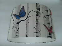 LAMPSHADE made from Butterfly Birch Tree Muriva Wallpaper..  Handmade.