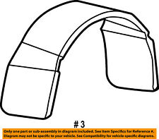 FORD OEM 99-10 F-250 Super Duty Fender-Pickup Bed-Splash Shield F81Z9928370BA