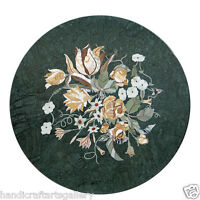 """Size 30""""x30"""" Marble Vanity Table  Rare Marquetry Inlay Work Mosaic Home Decors"""