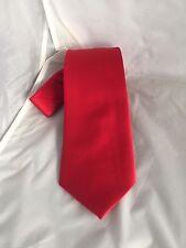 """Corbata De Poliéster Rojo Mate Para Hombre-corbata-Clásico 3.3"""" = 8cm ancho > P&P 2 Reino Unido > 1st"""