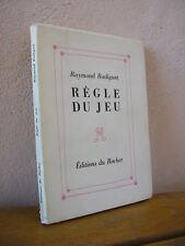 Raymond Radiguet : Règle du jeu 1957