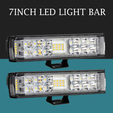 "2x 7"" Inch 180W LED Work Light Bar Spot Flood Combo Offroad SUV Car Driving Lamp"