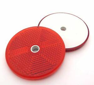 Reflectores circulares de 60mm - Homologación ECE - Rojo - Pack de 2