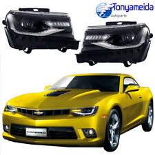 New Front LED Projector Headlights LH+RH For Chevrolet Chevy Camaro 2014-2015