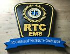 RTC EMS 3D routed wood patch Plaque sign Custom