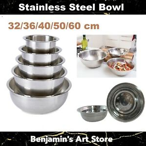 Au 5 Size Large Stainless Steel Mixing Bowl Durable Kitchen Cooking Baking Salad