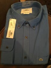 Lacoste Button Down Long Sleeve Shirt US Size XL Euro 44 Brand New/ Tags NEW