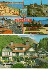 19'60s postcards x2 Hunters Inn Heddon mouth Devon, and 1970's Weymouth Devon