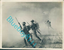 More details for ww2 british army north africa 1942-43 infantry advance with tanks 4 x 3 inches