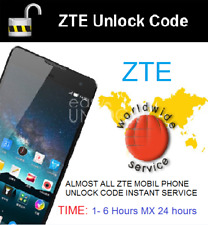 ZTE FACTORY UNLOCK CODE SERVICE ANY Model and CARRIER WORLDWIDE AT&T T-MOBILE ✅