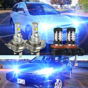 FITS Honda CR-V MK1 55 W Azul Hielo Xenon Hid Alta//baja//LED lado Headlight Bulbs Set