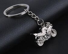 3D Motorcycle MotorBike KeyRing Chain Silver Keychain Pendant Gift - UK SELLER