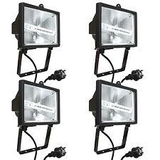 4x asSchwabe Profi Strahler 400W Schwarz mit Kabel Zuleitung Leuchte 400 Watt W