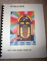wurlitzer 1015 cd jukebox manual