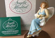 ANGELIC MINSTRAL Hallmark Christmas Holiday Ornament 1988 Hand Painted Porcelain