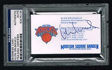 Glen Grunwald signed autograph auto Business Card New York Knicks Gm Psa Slabbed