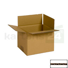 100 Versandkartons 240 x 130 x 130 mm Faltkarton Versandverpackung Schachtel