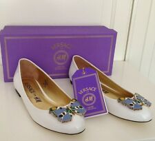 Versace for h&m Ballerines Chaussures Blanc T 36 NEUF
