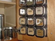 """Flexible Magnetic Sheet - 12"""" x 24"""" - Adhesive Back - Create Magnetic Spice Rack"""