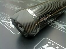 Suzuki GSX GSXF 650 F 07- Carbon Round, Carbon Outlet, Exhaust Can, Road Legal