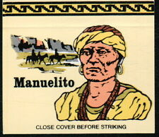 MANUELITO Navaho Indian Chief Vintage Native American Old Ohio Match Book Cover