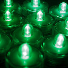Submersible Waterproof Battery Led Tea Light ~ Wedding Decoration~Green~ 24 Pack