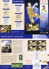 RFA 2007: feuille de rappel pour le Championnat du monde de Handball! 4x Nr 2578