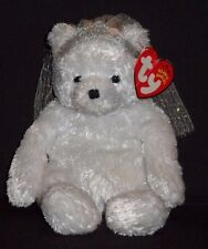 TY BRIDE the BEAR BEANIE BABY - CREASED TAG - SEE PICS