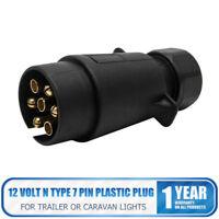 12N 7Pin Plastic Plug  Trailer Truck Caravan Plug Socket Towing 12 Volt N Type