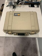 Tan Pelican Case 1500 With Top And Bottom Foam Inserts