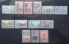British Honduras 1938 - 47 set complete to $5 LMM SG150 - SG161