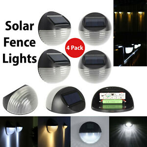 Outdoor Solar LED Deck Light Garden Patio Pathway Stairs Step Fence Lamp 4 PACK
