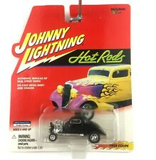Johnny Lightning Hot Rods 1934 34 Ford 3 Window Coupe Car Black 1/64 Die Cast