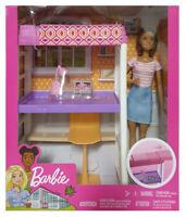 Barbie FXG52 - Deluxe-Set Möbel Hochbett mit Schreibtisch, Puppe & Zubehör, NEU