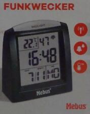Mebus digitaler Funkwecker mit Wochentag und Temperaturanzeige 51385