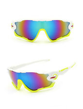 Sports Glasses Cycling Goggles Bike Motorcycle Bicycle Sunglasses UV Protection White Yellow