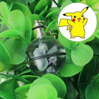 3D Pokemon Kristall Ball Pikachu LED RGB Nachtlicht Schlüsselanhänger Geschenk
