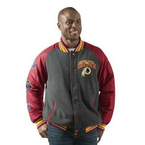 Washington Redskins Men's Power Hitter Full-Snap Varsity Jacket G-III NFL M