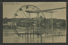 SIAM THAILAND OLD POSTCARD WATER MILL IRRIGATION SIAM