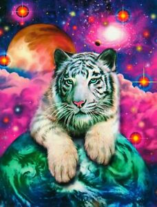 """Glow In The Dark """"WHITE TIGER CUB"""" Fantasy 500 Pieces BOXLESS Jigsaw Puzzle NEW"""