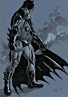 DC Comics BATMAN Original Art JOKER HARLEY QUINN GOTHAM CATWOMAN SUPERMAN FLASH