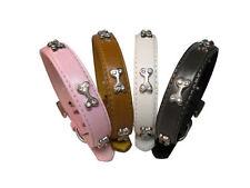 Faux Leather Adjustable Unisex Dog Collars
