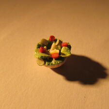 Doll house miniature food~wooden bowl of salad ~1/24 scale~