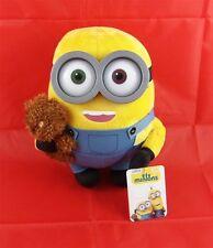 XL Plüsch BOB mit Teddy Bär ca 28 cm, Plastik 3D-Augen Minion Film Plüschfigur