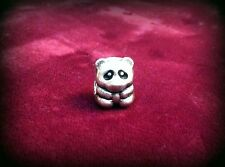 PANDORA RETIRED PANDA CHARM BEAD #790490EN16 STERLING SILVER & ENAMEL .925 ALE