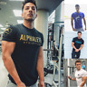 Alphalete Alpha Men's Gym T-Shirt Bodybuilding Fitness Training Top Muscle Tee