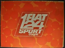 1968 Fiat 124 Sport Coupe Catalog Sales Brochure Excellent Original 68