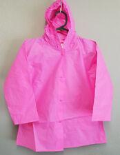 BNWT Girls Size 3 Pink PVC Plastic Waterproof Raincoat Rain Coat