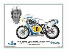 Print on Canvas Yamaha TZ500 #8 Jack Middelburg (NED) winner Dutch TT 1980 #1/6