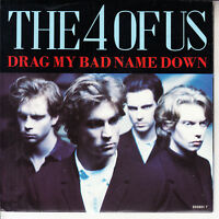 """THE 4 OF US  Drag My Bad Name Down PICTURE SLEEVE 7"""" 45 rpm vinyl record NEW"""